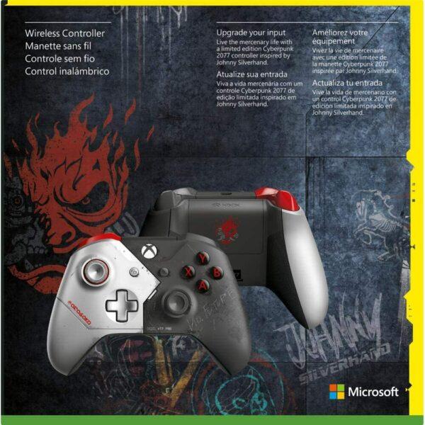 Manette sans fil Edition Limitée Cyberpunk 2077 Xbox One dos boite