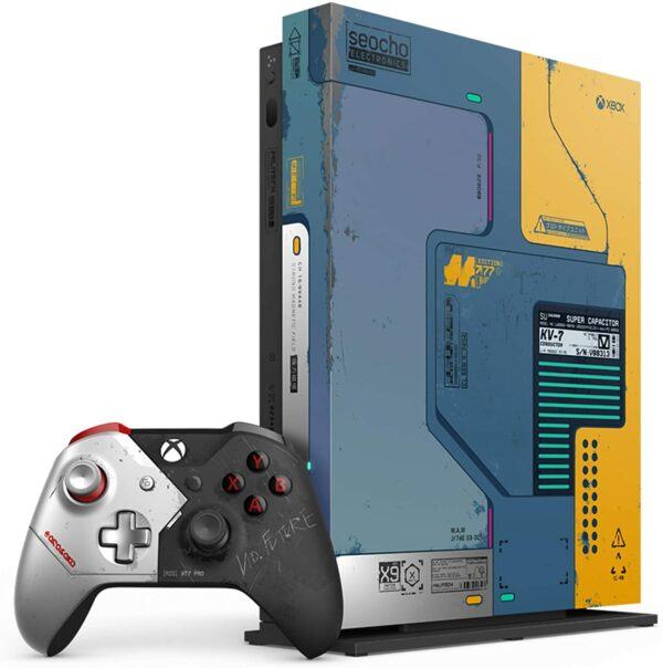 Pack Xbox One X Edition Limitée Cyberpunk 2077 deballe