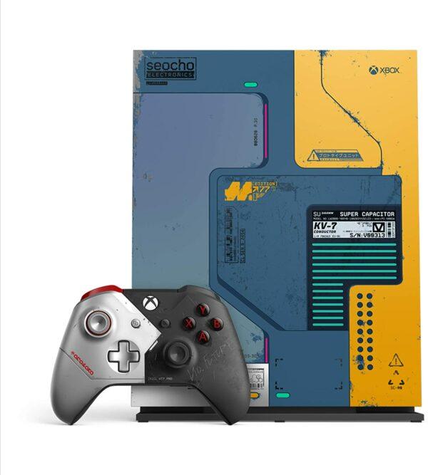 Pack Xbox One X Edition Limitée Cyberpunk 2077 face