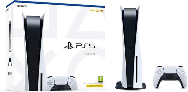 Sony PlayStation PS5 1 Manette Sans Fil DualSense boite et console
